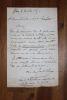 Lettre autographe signée à Aurélien Scholl. Charles Lambert de Sainte-Croix (1827-1889), homme politique, journaliste.