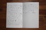 Lettre autographe signée à Aurélien Scholl. Jean-Jacques Weiss (1827-1891), journaliste, directeur des Beaux-Arts.
