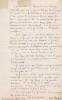 Lettre autographe signée. Edmond Gaudé dit Charly (1828-1885), acteur, directeur de théâtre, communard.