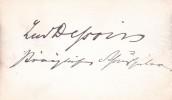 Lettre autographe signée. Ludwig Dessoir (1810-1874), acteur allemand.