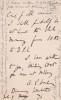 Lettre autographe signée. Arthur Penrhyn Stanley (1815-1881), homme d'Eglise, doyen de Westminster.