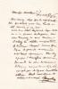 Lettre autographe signée. Giacomo Meyerbeer (1791-1864), compositeur allemand.