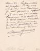 Lettre autographe signée. Alphonse Franck (1862-1932), auteur, metteur en scène, directeur de théâtre.