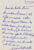 Lettre autographe signée. Georges Mitchell (1859-1919), auteur dramatique, romancier.