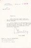 Lettre signée. Louis Amade (1915-1992), haut fonctionnaire, préfet hors cadre, auteur, parolier.