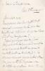 Lettre autographe signée. Louis de Turenne d'Aynac (1843-1907), voyageur, officier.