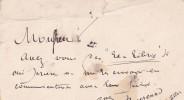 Lettre autographe signée au libraire Adolphe Durel (1847-1913). Gustave Bourcard (1846-1925), collectionneur et écrivain d'art, membre de la Société ...