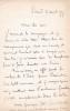 Lettre autographe signée. William Chaumet (1842-1903), compositeur né à Bordeaux.