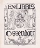 Ex-libris.. Ossendorf, Tchécoslovaquie (propriétaire), Ex-libris.