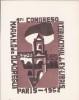 Ex-libris.. Premier congrès international d'Ex Libris, Paris 1962 (propriétaire) ; Gladys Echegaray, Argentine (artiste), Ex-libris.