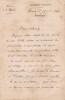 Lettre autographe signée. Henri Lefort (1845-1919), général, polytechnicien, membre du Conseil supérieur de la guerre.