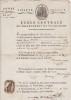 Certificat signé. [Ecole Centrale de Clermont-Ferrand] Joseph Jeudy-Dumonteix (1759-1832), avocat, bâtonnier, professeur d'histoire puis de ...