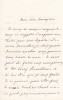 Lettre autographe signée à Arthur Mangin. Vittorio Ellena (1844-1892), homme politique italien, ministre des finances, député.