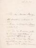 Lettre autographe signée à Arthur Mangin. Henri Martin (1810-1883), historien, romancier, homme politique.