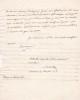 Lettre autographe signée. Pierre-François Camus dit Merville (1781-1853), dramaturge, médecin, comédien.