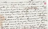 Lettre autographe à Louis-Elisabeth de la Vergne, comte de Tressan.. Jean-François de Saint-Lambert (1716-1803), militaire, poète, écrivain, membre de ...