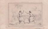 [Boxe], Archipel de Tonga, scène de Pugilat entre deux femmes.. [Boxe], Archipel de Tonga, scène de Pugilat entre deux femmes.