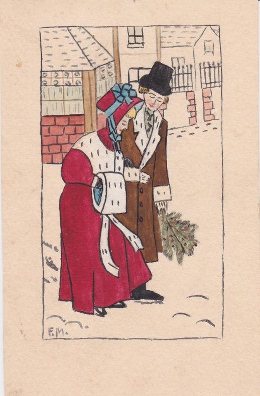 Dessin original. Flora Murray (1869-1923), médecin britannique, suffragette, fondatrice des hôpitaux avec personnel exclusivement féminin à Paris & ...