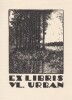 Ex-libris.. Vl Urban (Tchécoslovaquie) par Grossmann, Ex-libris.