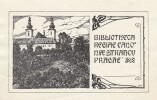Ex-libris.. Bibliotheca Regiae Canoniae Strahov Pragae (Tchécoslovaquie), Ex-libris.