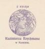 Ex-libris.. Kazimierza Reychmana (Tchécoslovaquie), Ex-libris.