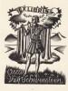 Ex-libris.. Oscar van Schevensteen (Belgique ou Pays-Bas) par Luc de Jaegher, Ex-libris.
