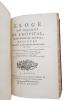 """""""ELOGE DE MICHEL DE L'HOPITAL, CHANCELIER DE FRANCE. DISCOURS PRESENTE A L'ACADEMIE FRANCOISE, EN 1777"""".. REMY (Abbé) - MONTYOUD - CONDORCET M.J.A.N. ..."""