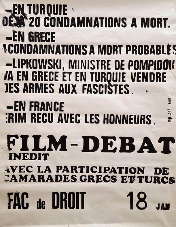 FILM-DÉBAT SUR LA TURQUIE DE 1971.. [Cinéma/Turquie]