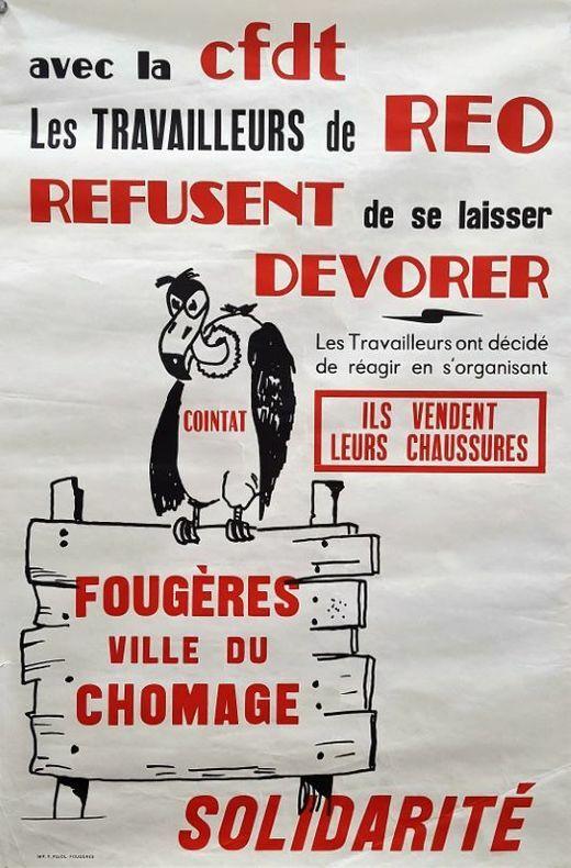 Fougères Ville du Chomage.. [Luttes Sociales/Affiche]