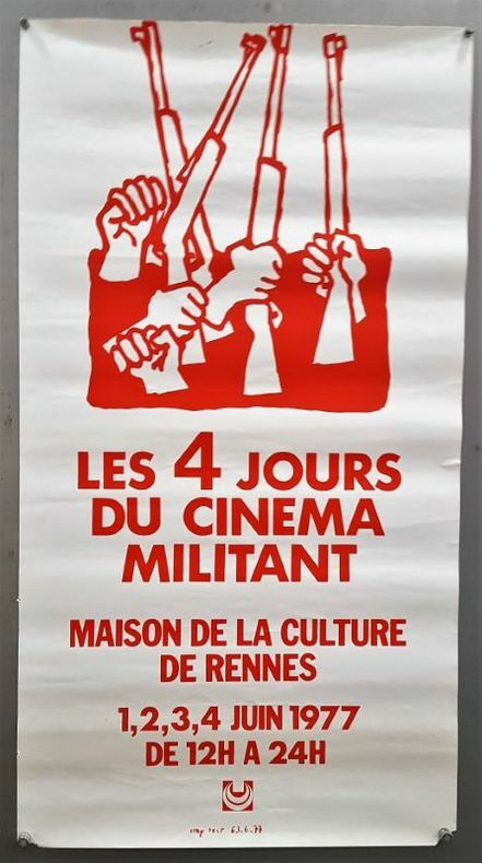 Les 4 jours du cinéma militant, à la maison de la culture de Rennes.. [Cinéma/ Luttes Sociales] ANONYME.