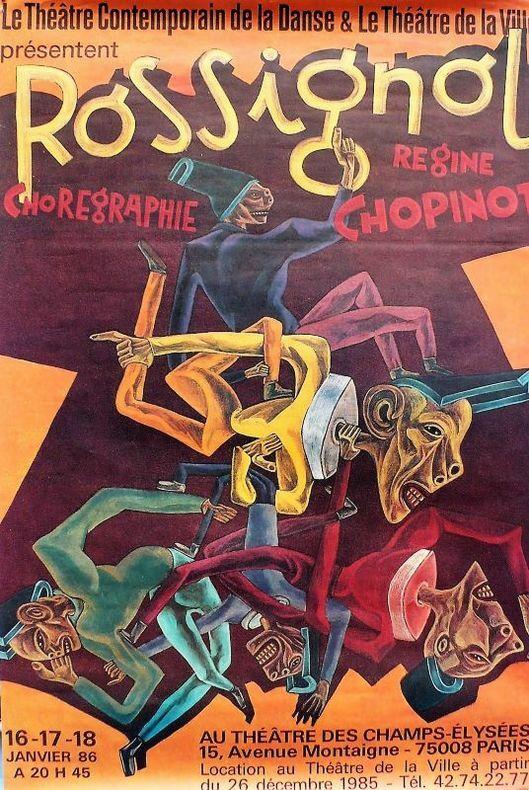 Rossignol, chorégraphie de Régine Chopinot.. [Danse contemporaine/Affiche] CARO (Marc)