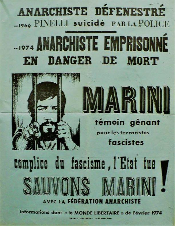 Anarchiste emprisonné, Marini.. [Affiche/Anarchie]