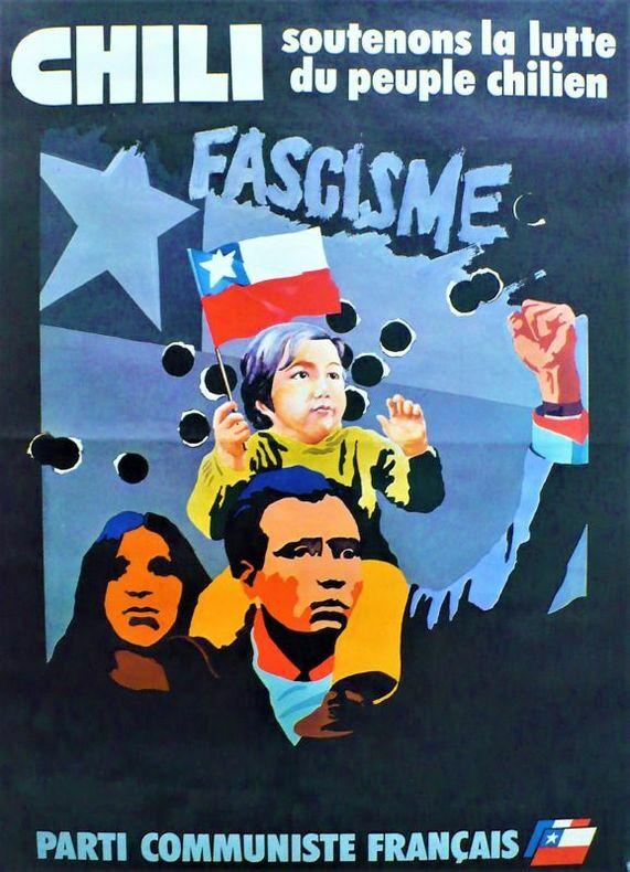 CHILI, Soutenons la lutte du peuple Chilien.. [Affiche/Politique/Chili] GRAPUS