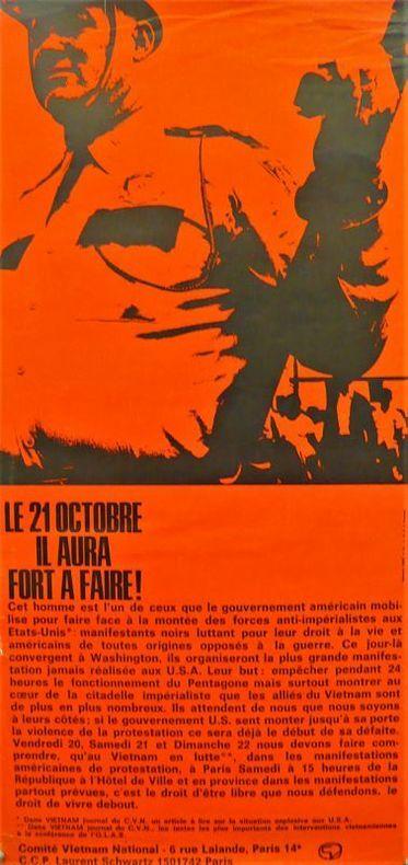 « LE 21 OCTOBRE IL Y AURA FORT A FAIRE ! ». [Affiche/Politique/Vietnam]
