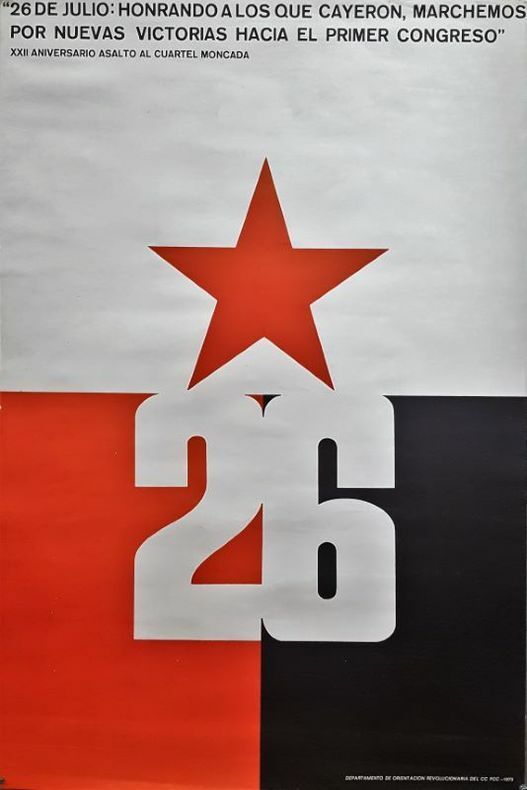 26 de Julio. Jornada XXII Aniversario. . [Affiche/Cuba]