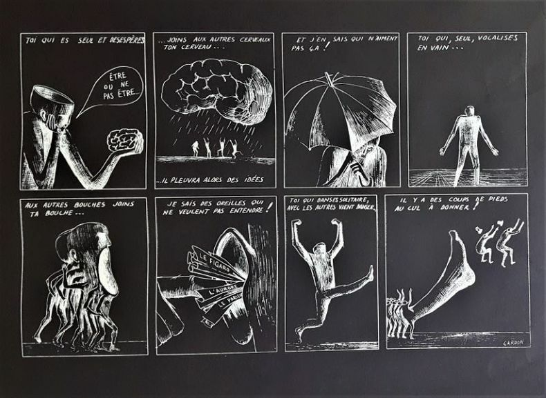 TOI QUI ES SEUL.... [Affiche/Chili] CARDON (Jacques -Armand)
