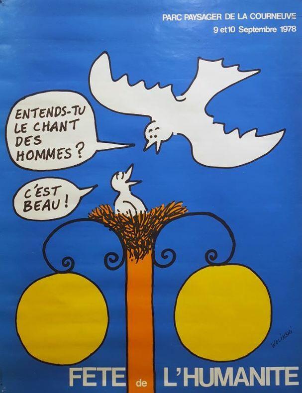 FÊTE DE L'HUMANITÉ 1979.. [Affiche/Politique] WOLINSKi