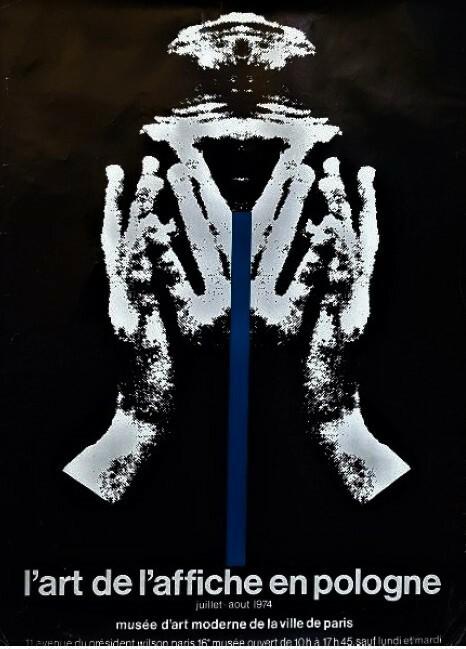 L'ART DE L'AFFICHE EN POLOGNE. Juillet-Août 74, Musée d'Art Moderne de la Ville de Paris.. [Affiche/Pologne/Exposition] CIESLEWICZ (Roman)