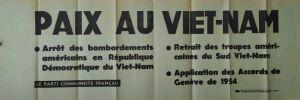 PAIX AU VIETNAM. [Affiche/ Guerre du Vietnam]