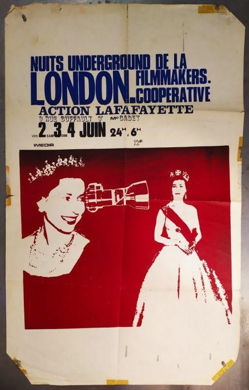 NUITS UNDERGROUND DE LA LONDON FILMMAKERS COOPERATIVE. [Affiche/ Cinéma] ANONYME