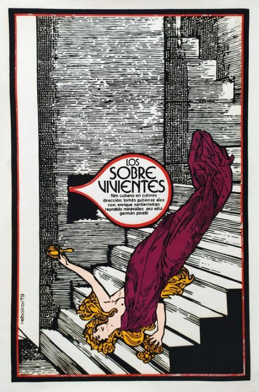 Los Sobre Vivientes.. [Affiche/ Cinéma cubain] REBOIRO (Antonio Fernandez) (1935- 2020)
