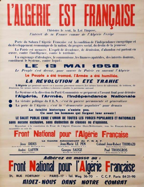 """""""L'Algérie est Française, lHistoire le dit, la Loi limpose"""". [Guerre d'Algérie]"""