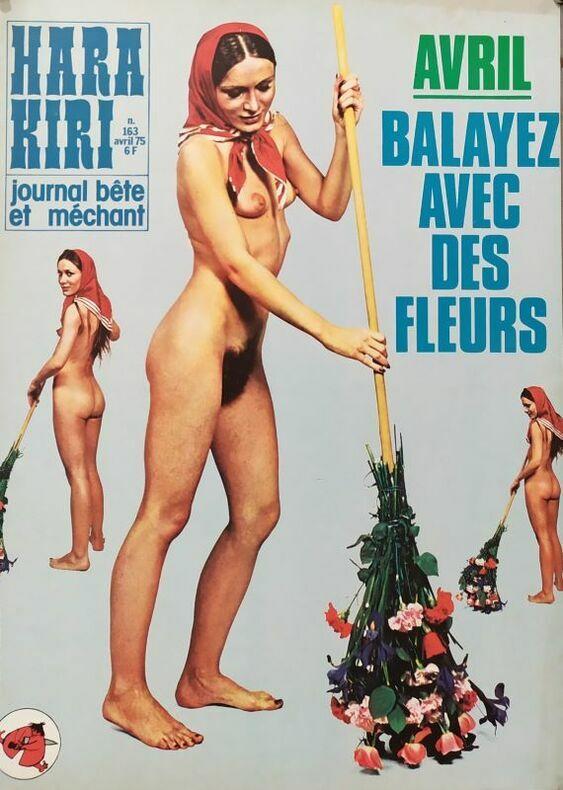 AVRIL. BALAYEZ AVEC DES FLEURS.. HARA-KIRI. CHENZ (Jacques Chenard, attribué à)