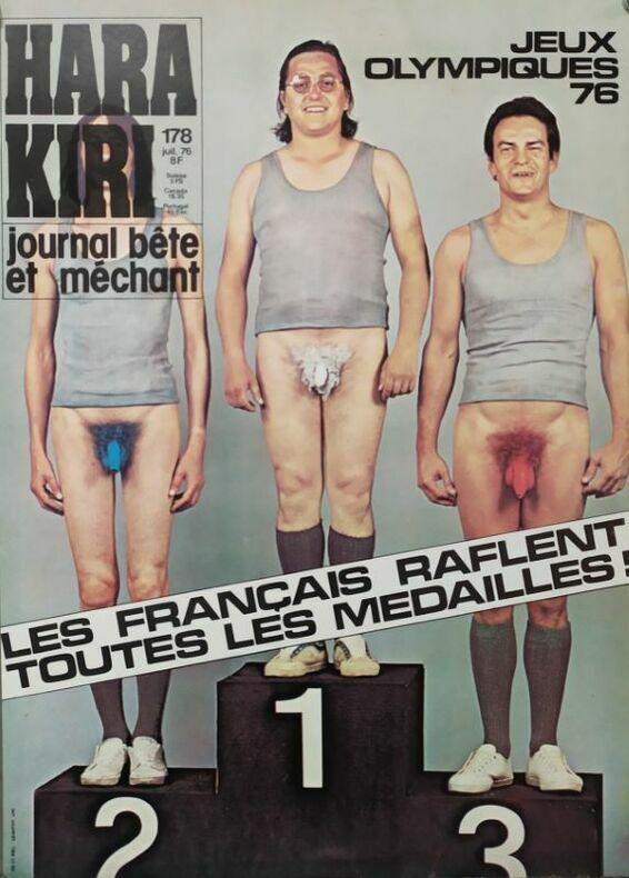 JEUX OLYMPIQUES 76. LES FRANÇAIS RAFLENT TOUTES LES MÉDAILLES.. HARA-KIRI. CHENZ (Jacques Chenard, attribué à)