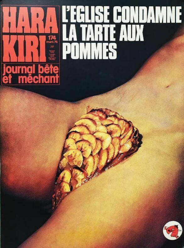 L'ÉGLISE CONDAMNE LA TARTE AUX POMMES.. HARA-KIRI. CHENZ (Jacques Chenard, attribué à)