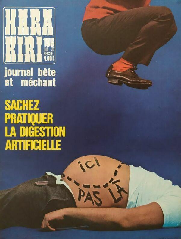 SACHEZ PRATIQUER LA DIGESTION ARTIFICIELLE.. HARA-KIRI. CHENZ (Jacques Chenard, attribué à)