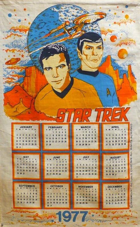 Calendar 1977.. [Calendrier] STAR-TREK