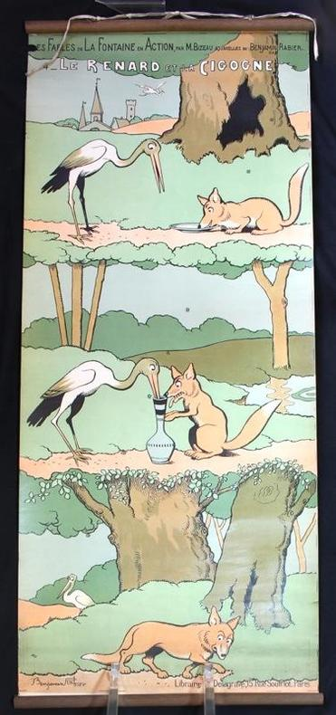 Le renard et la cigogne.. RABIER Benjamin: