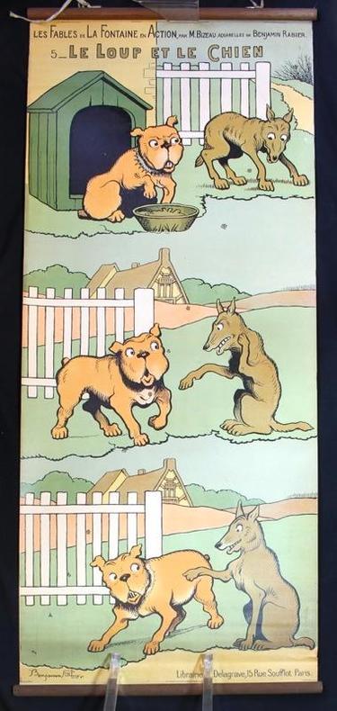 Le loup et le chien.. RABIER Benjamin: