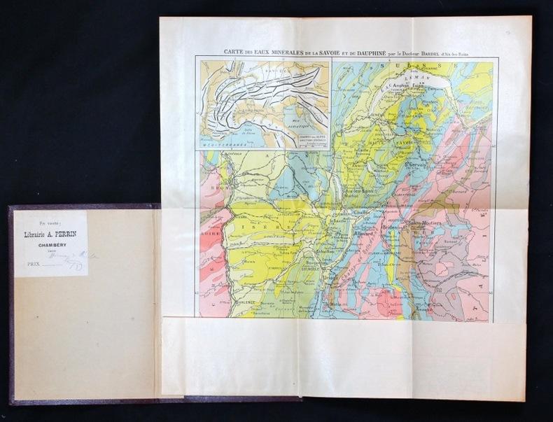 Carte de la Savoie et du Dauphiné. Géologie - Eaux minérales.. Dardel Dr.: